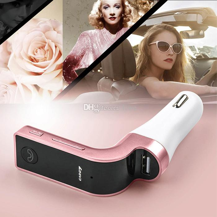 Hot selling 4-in-1 CAR G7 Bluetooth FM Transmitter with USB flash drives /TF Music Player Bluetooth Car kit USB Car charger
