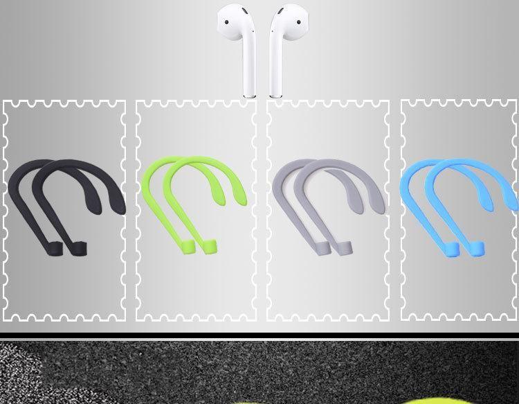 Silicona Anti-perdida Correa Correa Lazo Cuerda Cuerda Cuerda Para Apple AirPods Auriculares Accesorios auriculares cable proteger TPE línea plana