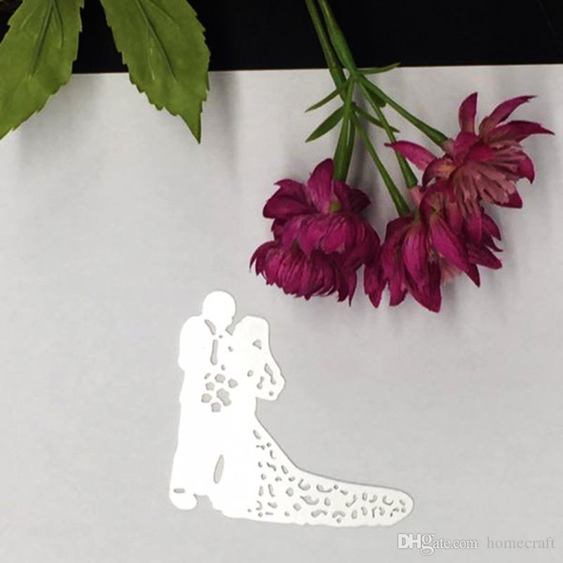 Metallo Sposa Sposo Taglio Muore Stencil DIY Scrapbooking Carta Mestiere di Foto Album Pittura Goffratura Decor Craft