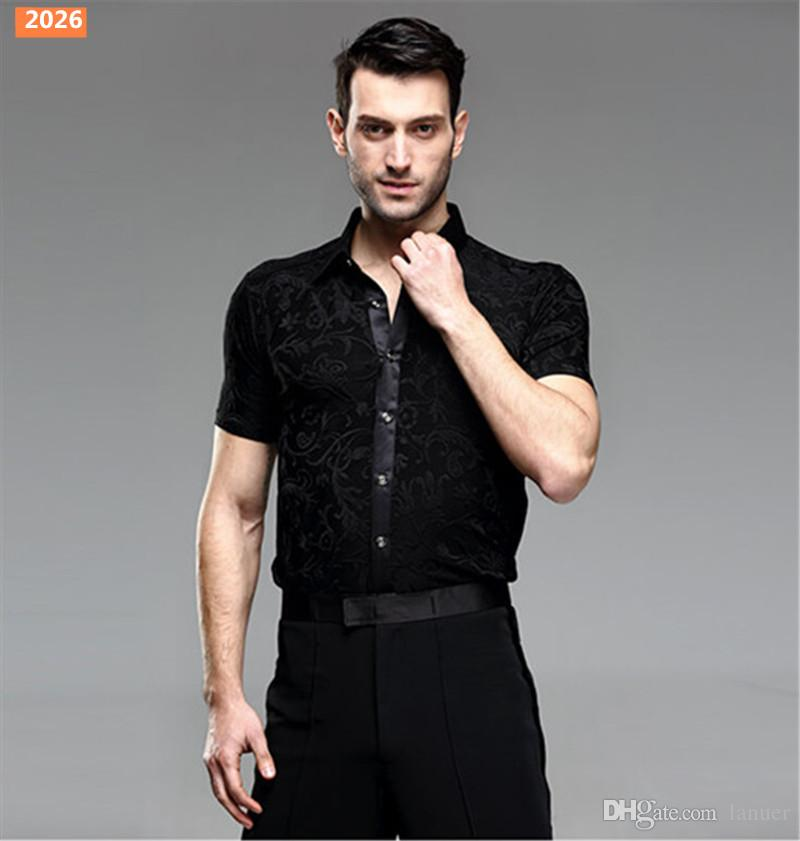 Men/'s Ballroom Latin Party Rhythm Salsa Tango Modern Jazz Rumba Dance Shirt Top