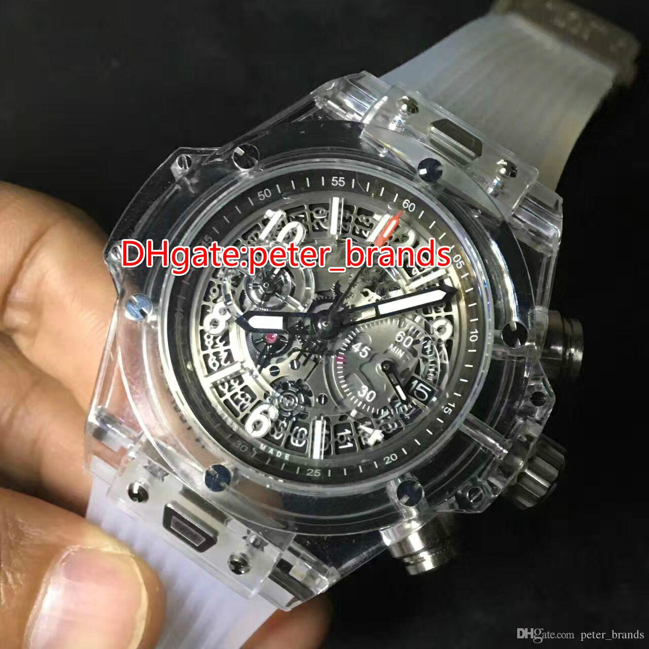 automatic machine men watch transparent watches mens dial skeleton modern fossil s