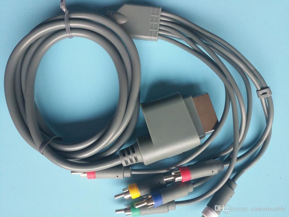 Component Hd Av Cable For Microsoft Xbox 360 / Xbox 360 Slim Custom ...