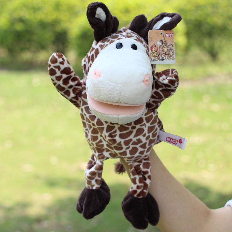 New Arrival Plush Puppet Sika Deer Monkey Wolf Elephant Doll Early Educational Toys Hand Puppets Best Hot Toy Gifts