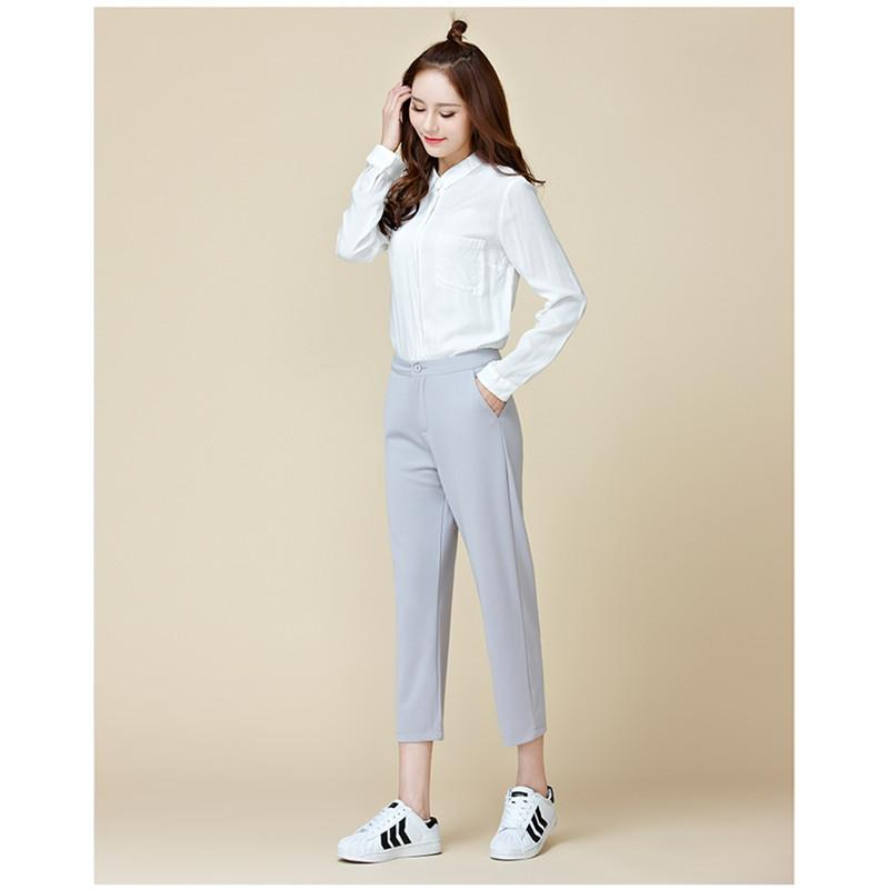 2018 New Womens Pants New Spring Plus Size Korean Style Straight