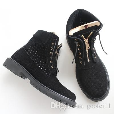 2017 fall winter new arrival black leather lace up short boots flat gold sequined gladiator riding Women Flats ankle boots