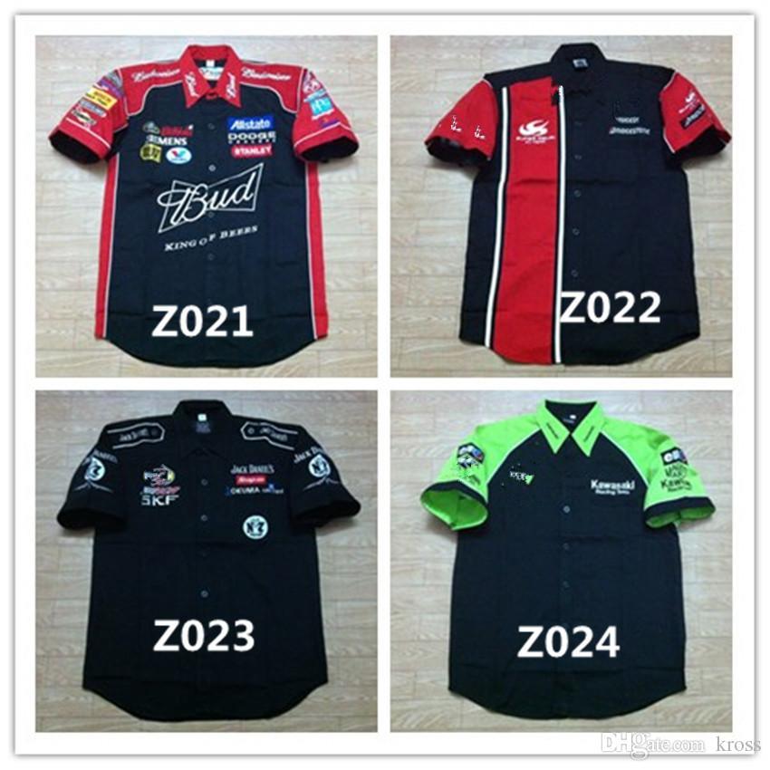 FIA Formule 1 mot Course Chemises en coton GSN NASCAR Moto Racing Veste pour suzuki kawasaki ford Voiture F1 moto Racing Team shirts