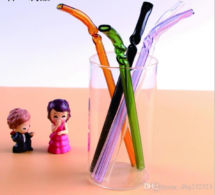 Boca plana de vidrio de alto borosilicato que gira la paja doblada, accesorios de los bongs de cristal, colocaciones de tubo de cristal