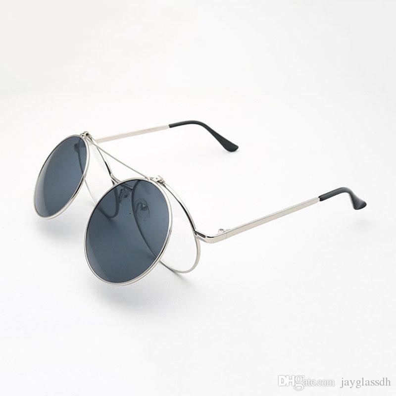 b057bb6a7bf Fashion Steam Punk Clamshell Sunglasses Retro Sunglasses Men Women Glasses  Personality Clamshell Glasses Metal Punk Sun Glasses Wholesale Suncloud ...