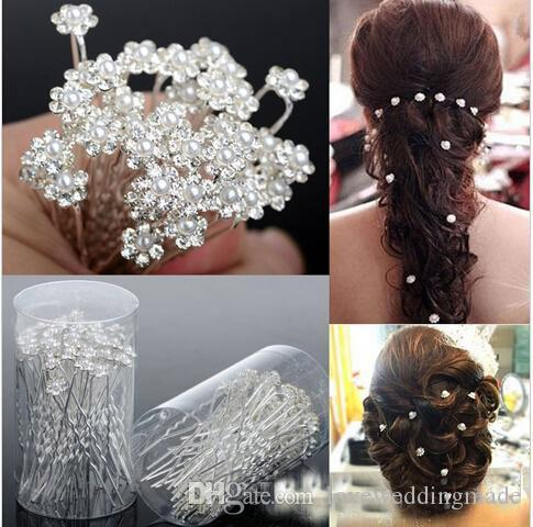 Cheapest For Sale 2017 Bridal Pearl Hairpins Flower Crystal Pearl Rhinestone Hair Pins Clips Bridesmaid Ladies Hair Jewelry