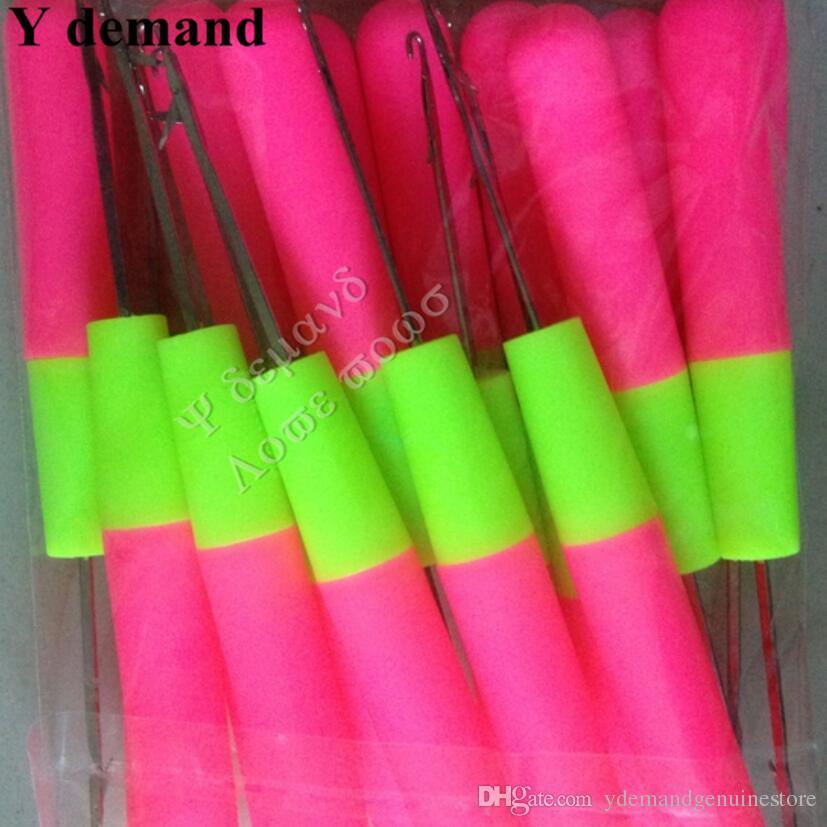 Crochet Aiguilles Pour Le Tissage Des Cheveux Jumbo Tresses Cheveux Professionnel Extensions de Cheveux Outils Grande Taille 15 cm Y demande