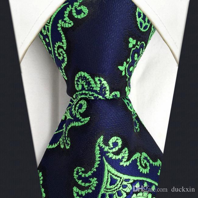 acquista per prezzo incredibile prima qualità C18 Blue Green Silk Abstract Mens Cravatta cravatta Fashion Novelty Dress  Accessori cravatte extra lunghe per uomo