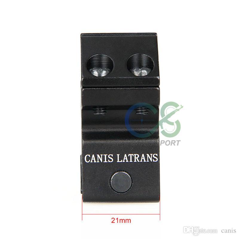 Canis Latrans 25,4 MM 6063 Aluminium Finish Beschichtung Anodische Oxidation Doppel Weitwinkelhalterung Für Outdoor Jagd CL24-0120B