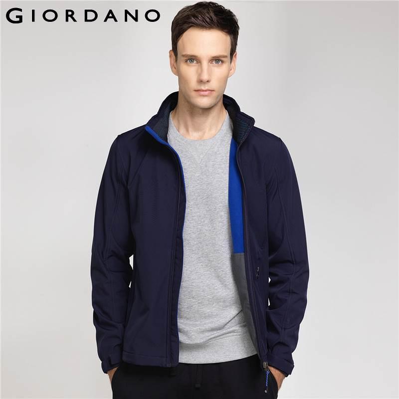 Giordano Men Hooded Jacket Mens Fleece Lined Windbreaker ...