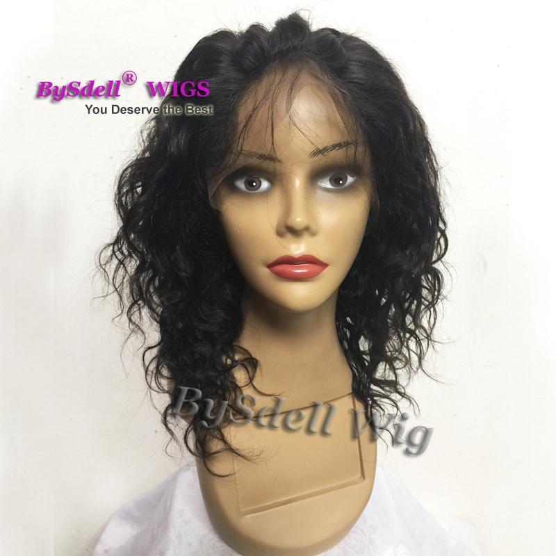 Parrucca anteriore del merletto dei capelli umani dell'onda riccia della spiaggia nera naturale dei capelli 8A parrucca anteriore del pizzo glueless dei capelli umani brasiliani con i capelli del bambino