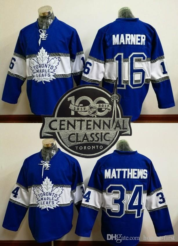 0db321ee2 2019 100th Leafs 2017 Draft  16 MARNER  34 Matthews Blue 2017 Winter  Classic Hockey Jerseys Stitched From Honest First