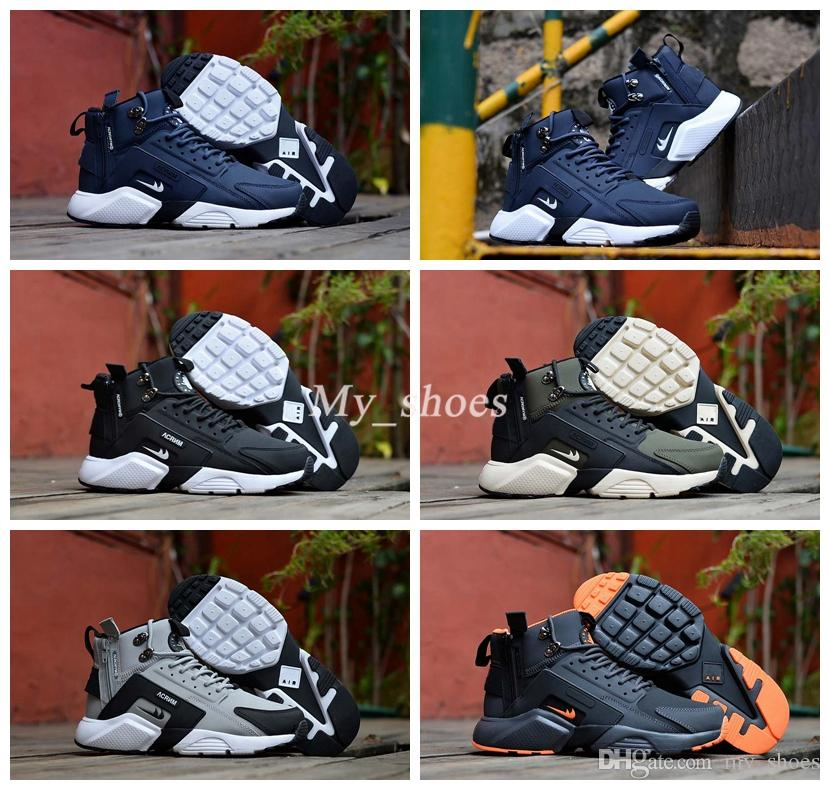 d78cf7bf201 2019 2017 New Air Huarache 6 X Acronym City MID Leather High Top Huaraches  Running Shoes Men Women Huraches Sneakers Hurache Zapatos Size 7 11 From  My shoes ...