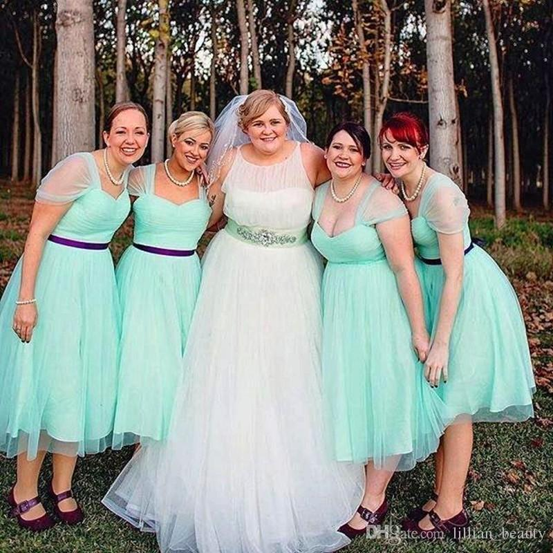 Turquoise Bridesmaid Dresses Mint Short Country Bridesmaid Gowns ...