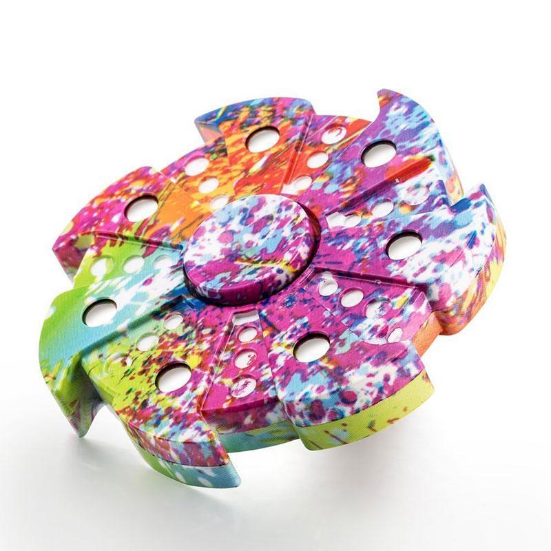 Camo Plastic Fidget Spinner Retail Box Camouflage Rainbow