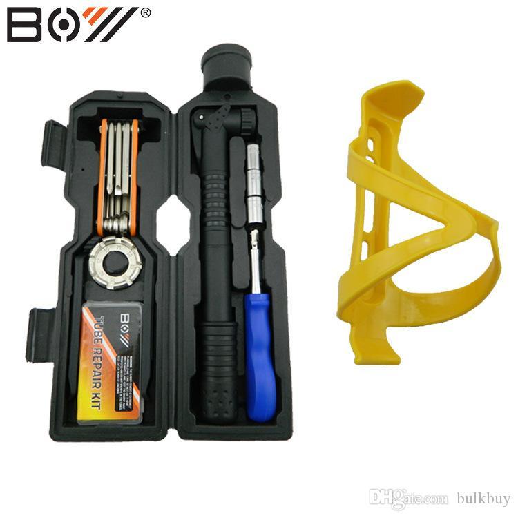 BOY 8010U Su Şişesi Araçları / MTB Bisiklet Bisiklet Tamir Araçları 19 1 Çok Fonksiyonlu Araç Seti Kiti Bisiklet bisiklet Taşınabilir Tamir Aracı Set