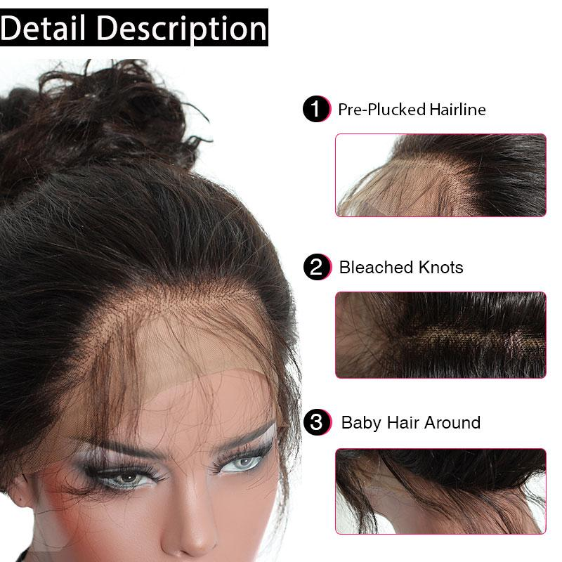 Grade 8a Brazilian virgin human hair natural deep wave unprocessed full lace lace front wigs for black women