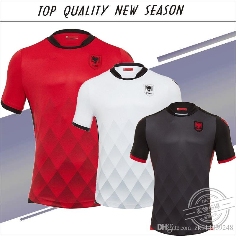 2019 New Season 2017 Albania Home Red Soccer Jersey 17 18 Albania National  Away Black Soccer Shirt Customized White Shirt From Zk114039248 0fb849ad2