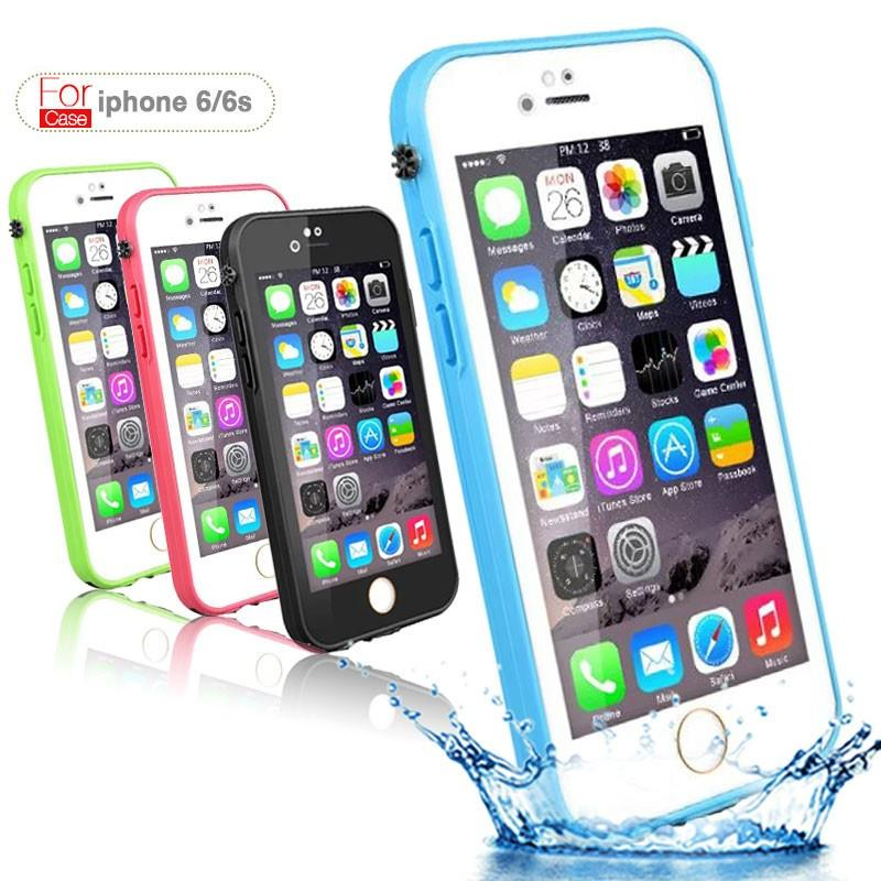 newest 67855 7a606 Original with fingerprint For iphone 6s Waterproof case slim life water  Proof case for iphone 6 s 4.7 inch TPU Protection cases