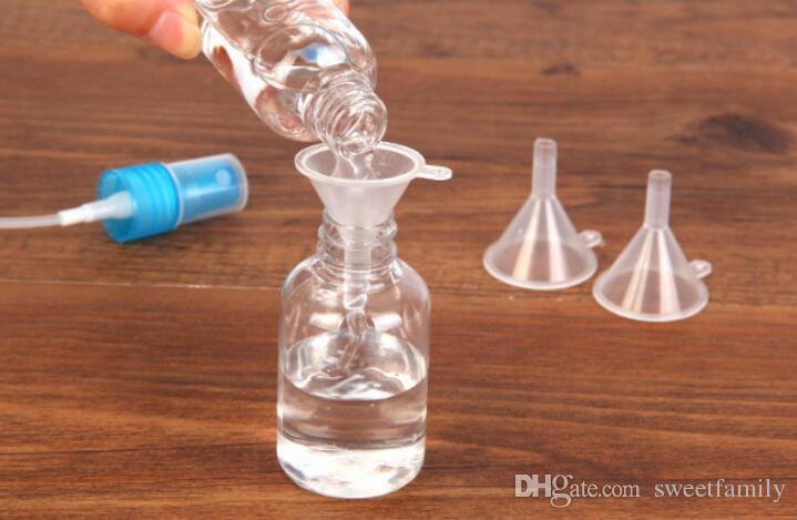 Новые пластиковые мини маленькие воронки для духи жидкость эфирное масло заполнения пустую бутылку упаковки инструмент Бесплатная доставка