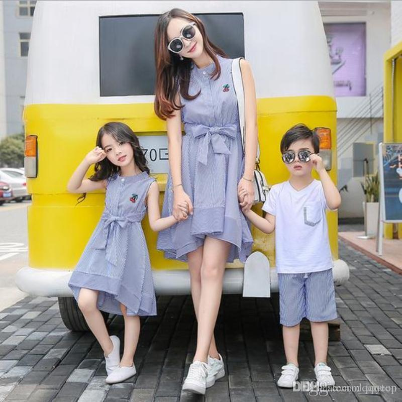 Mother Daughter Dresses Mother Son Outfits Family Matching ...