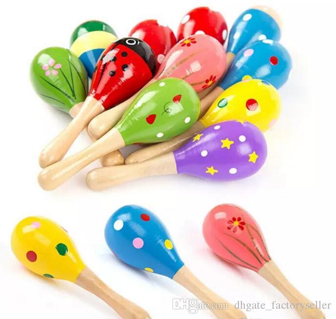 2017 детские деревянные игрушки погремушки детские симпатичные погремушки игрушки Orff музыкальные инструменты развивающие игрушки Оптовая