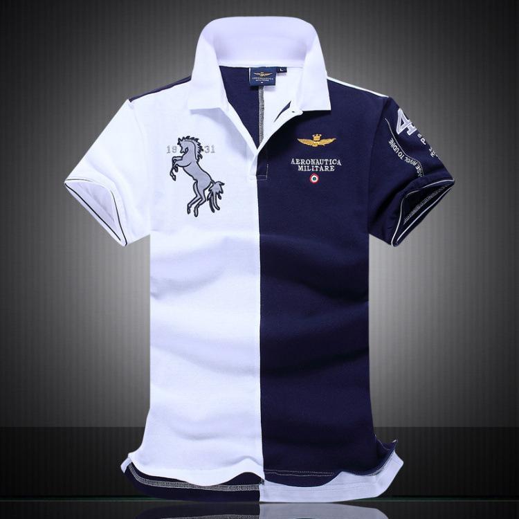 377119d5343 Fashion Summer Polo Shirt Men 100% Cotton Lapel Men s Air Force One ...
