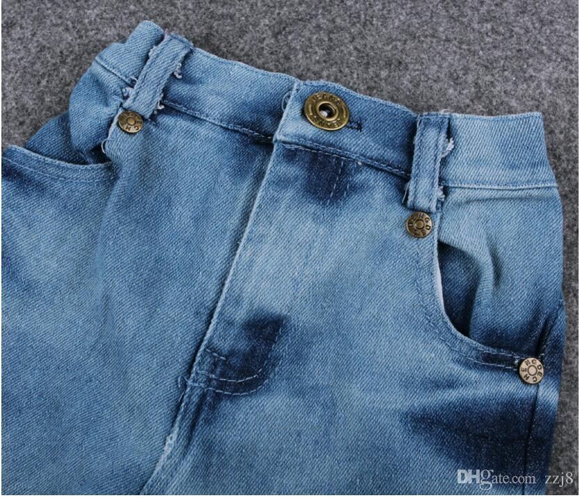 Cavalheiro Estilo Baby Boy Terno Camisa de Manga Longa Casaco e Calça Jeans Conjuntos de Roupas para Crianças meninos