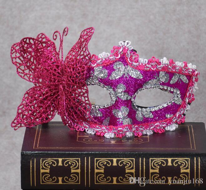 Cadılar Bayramı Makyaj Topu Kelebek Maske Venedik Patchwork Prenses Şeyler G572