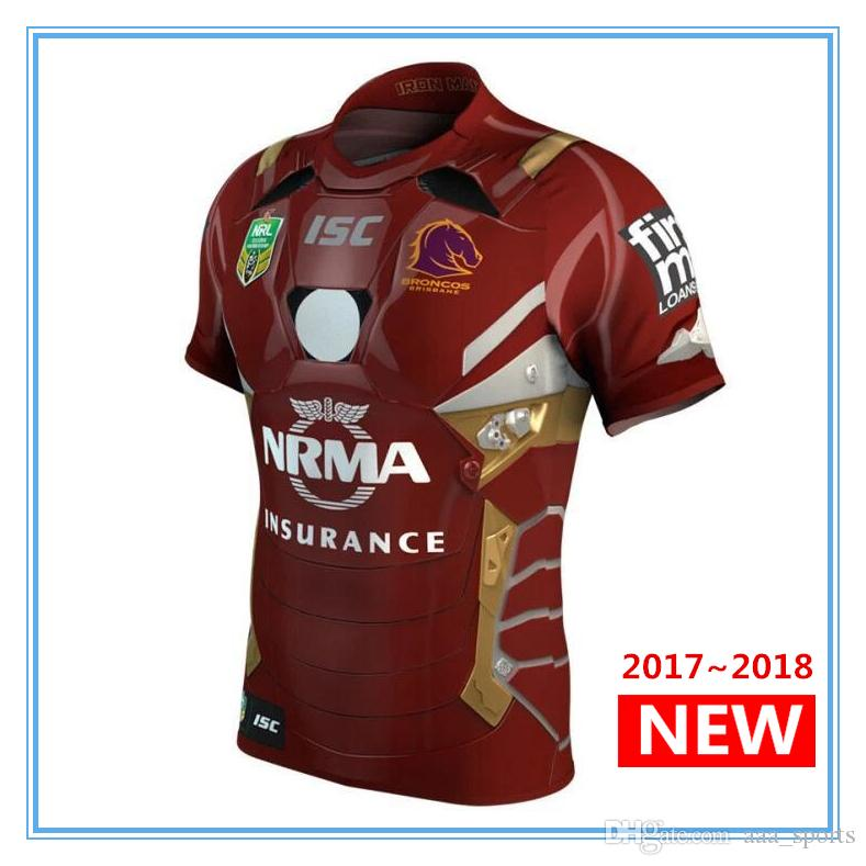 3adf8b708 Hot Sales North Queensland Cowboys Jersey Newcastle Knights Melbourne Storm  Manly Sea Eagles Brisbane Broncos 2017 2018 Rugby Jerseys UK 2019 From ...