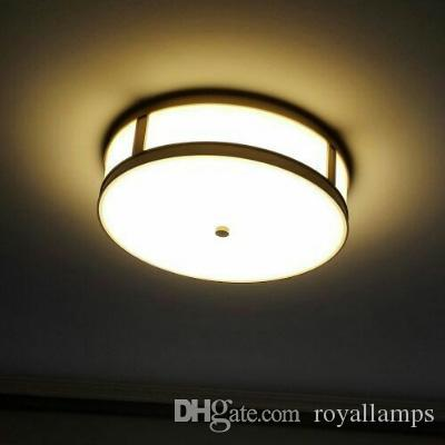 2019 Simple Art Led Ceiling Lights Brass Country Style Copper