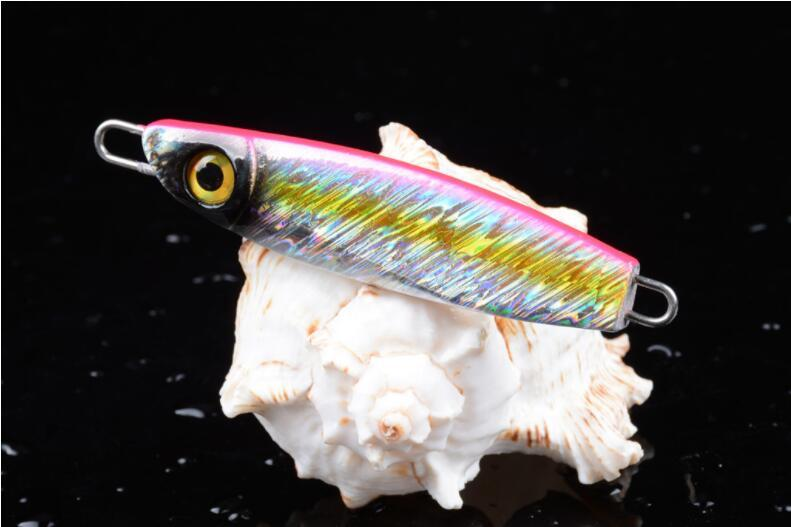 Superior Simulated 3D Eyes Lead Fish Baits Jigs Fishing Lure 8cm 40g Metal Baits Diving Jig for Saltwater