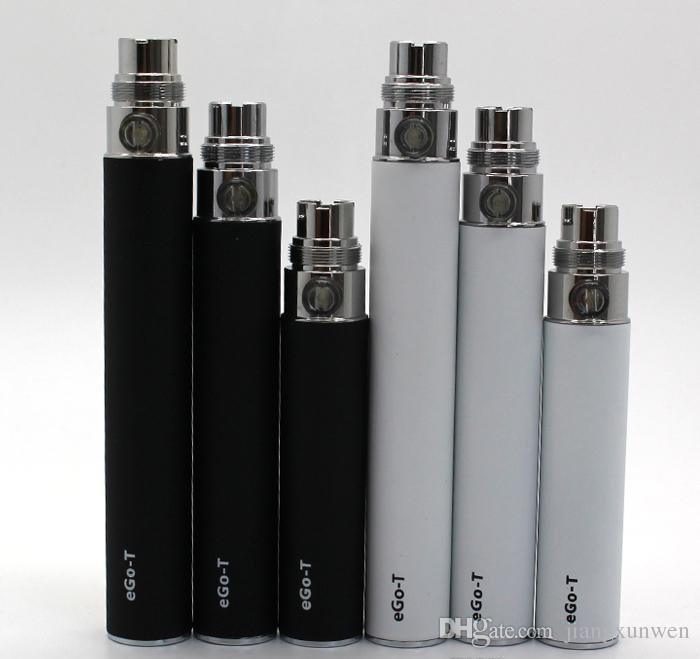 10 adet E Sigara eGo-t pil 650 mah 900 mah 1100 mah elektronik sigaralar 510 konu VS Ego EVOD Büküm Vizyon Spinner pil