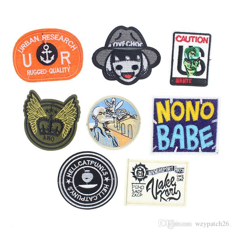 Compre Badge Cartas Patch Diy Hierro En Los Patrones Bikers Redondos ...
