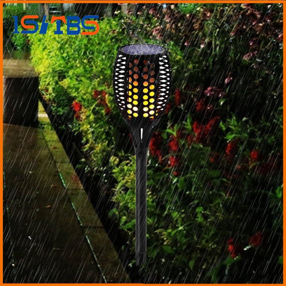 ip65 garden led led solar torch light 96led flame flickering solar lamp waterproof outdoor garden light