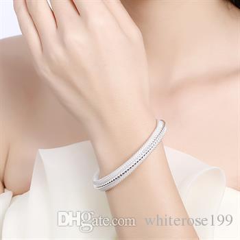 Оптовая торговля-розничная низкая цена Рождественский подарок, бесплатная доставка, новый 925 серебряный браслет моды B021
