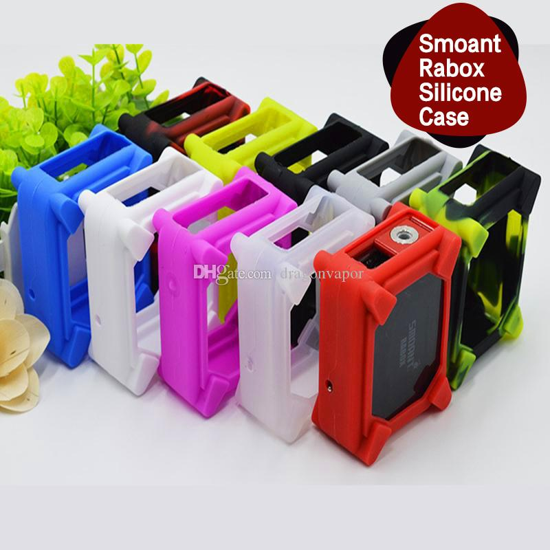 Colorful Smoant Rabox Silicone Case Soft Protective Sleeve Cover for Cloupor Smoant RABOX Box Mod E Cigarette DHL Free