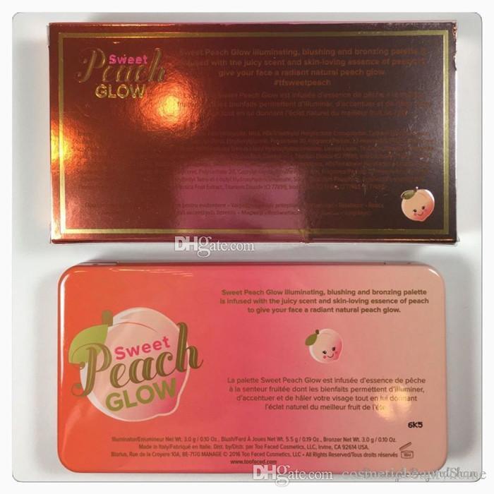 Paleta de maquillaje Sweet Peach GLOW Blush Powder Blusher Marcas Eyeshadow Face Make Up Kits de cosméticos Olor a melocotón