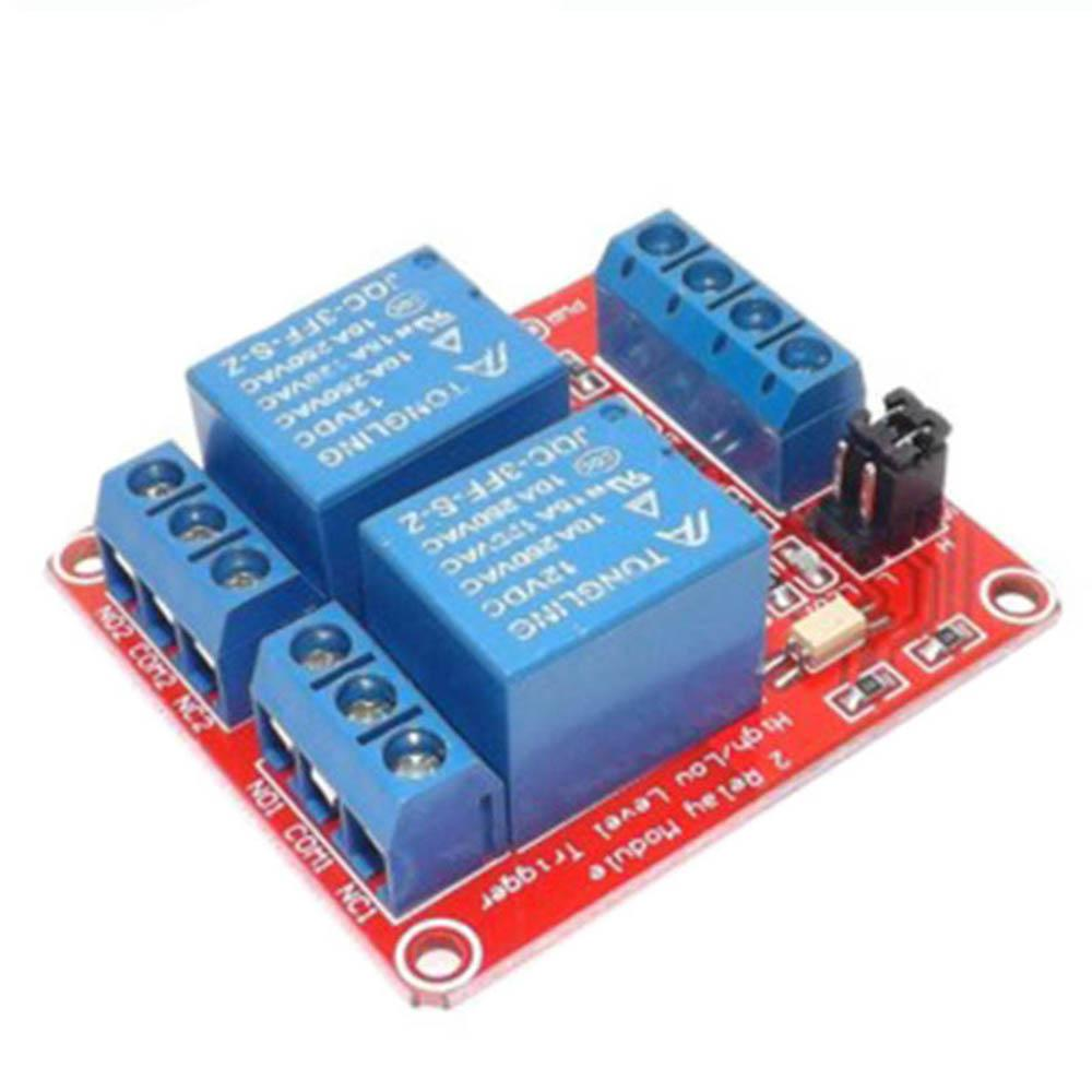 2018 5v 9v 12v 24v 2 Channel Relay Module With Optocoupler High Low Two Based Motorcycle Alarm Circuits Level Triggered Way For Arduino From Bulemon 654