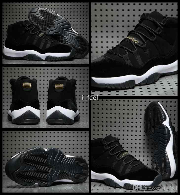 c6835ae78db7 2017 New 11 XI Black Gold Velvet Heiress Mens Women Basketball Shoes Wool  Sneakers 11s Trainers Athletics Men Sports Shoe Size Eur 36 47 Women  Basketball ...