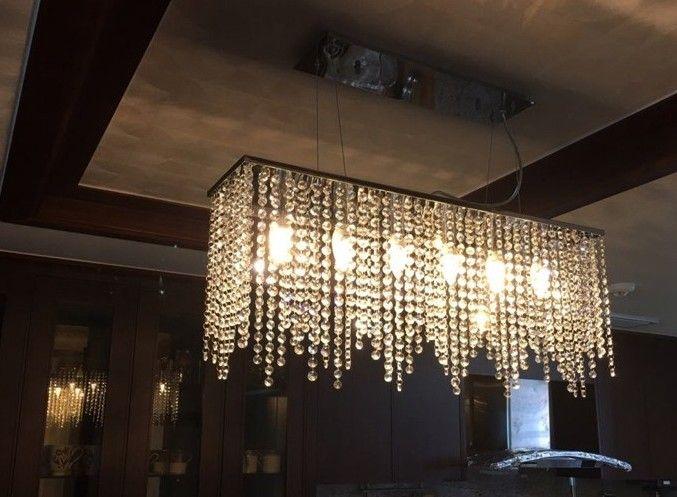 Modern crystal chandelier light for dining room led crystal modern crystal chandelier light for dining room led crystal chandeliers rectangle kitchen chandelier lighting led hanging lamp llfa paper chandelier linear aloadofball Gallery