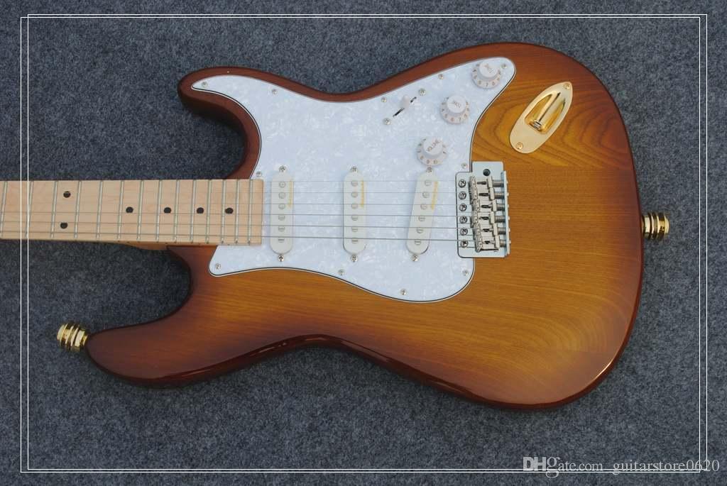 도매 기타 New Arrival Honey Burst 고품질 일렉트릭 기타 베스트 셀러 악기 무료 배송