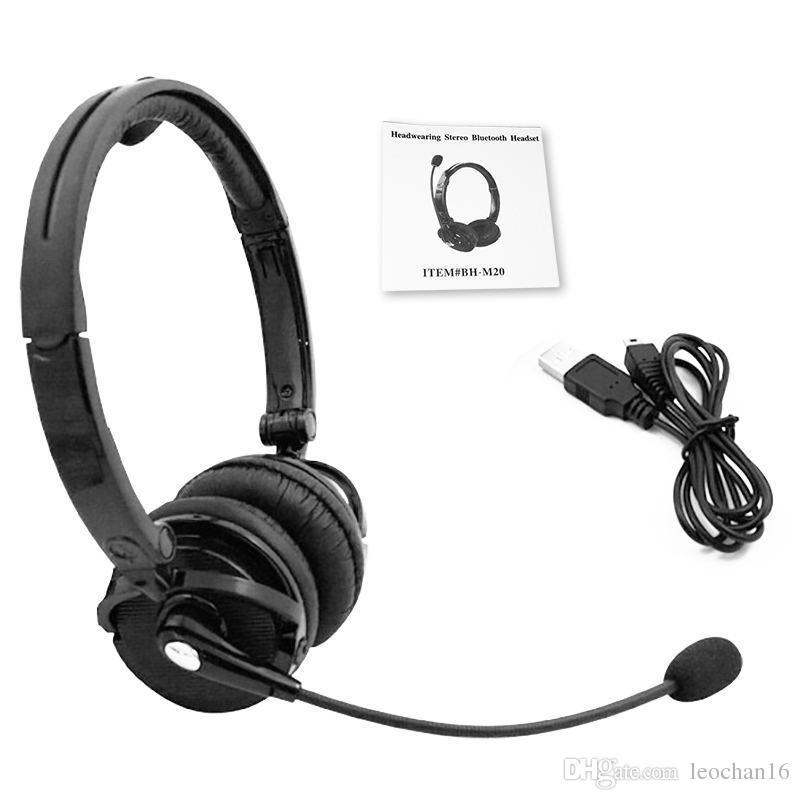 BH-M20C fone de Ouvido Bluetooth com Microfone Head-mounted Jogos de Jogos Sem Fio Fone de Ouvido Com Cancelamento de Ruído Fone de Ouvido Estéreo para PS3 BHM20C