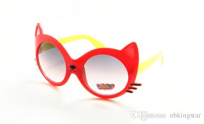Sommerstil 2017 Neue Heiße Verkauf Hohe Qualität Kinder UV Sonnenbrille Cartoon Katze Tierformen Sonnenbrille Gläser Für Kinder /