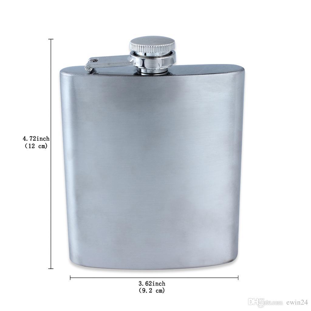 Ince Paslanmaz Çelik Hip Mataralar Flagon Su Isıtıcısı Srinks 7 OZ Taşınabilir Erkekler Için Hip Mataralar Cep Sıcak Satış
