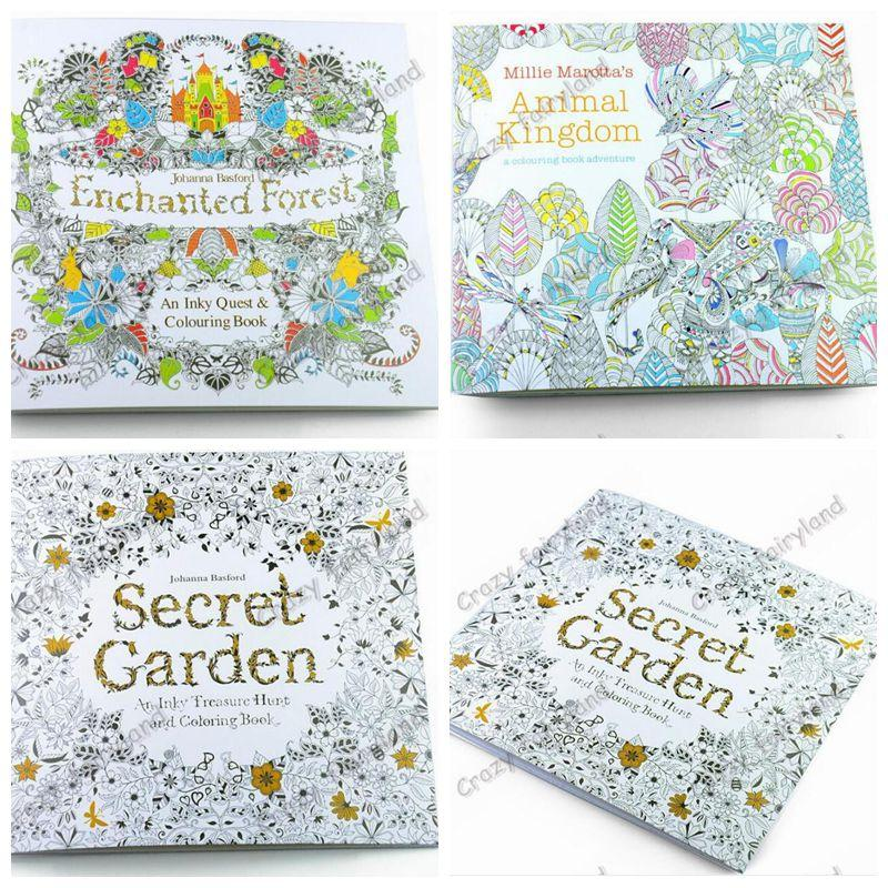 Secret Garden Coloring Books Animal Kingdom Adult Reducing Stress Drawing Book Diy 1071z Colour