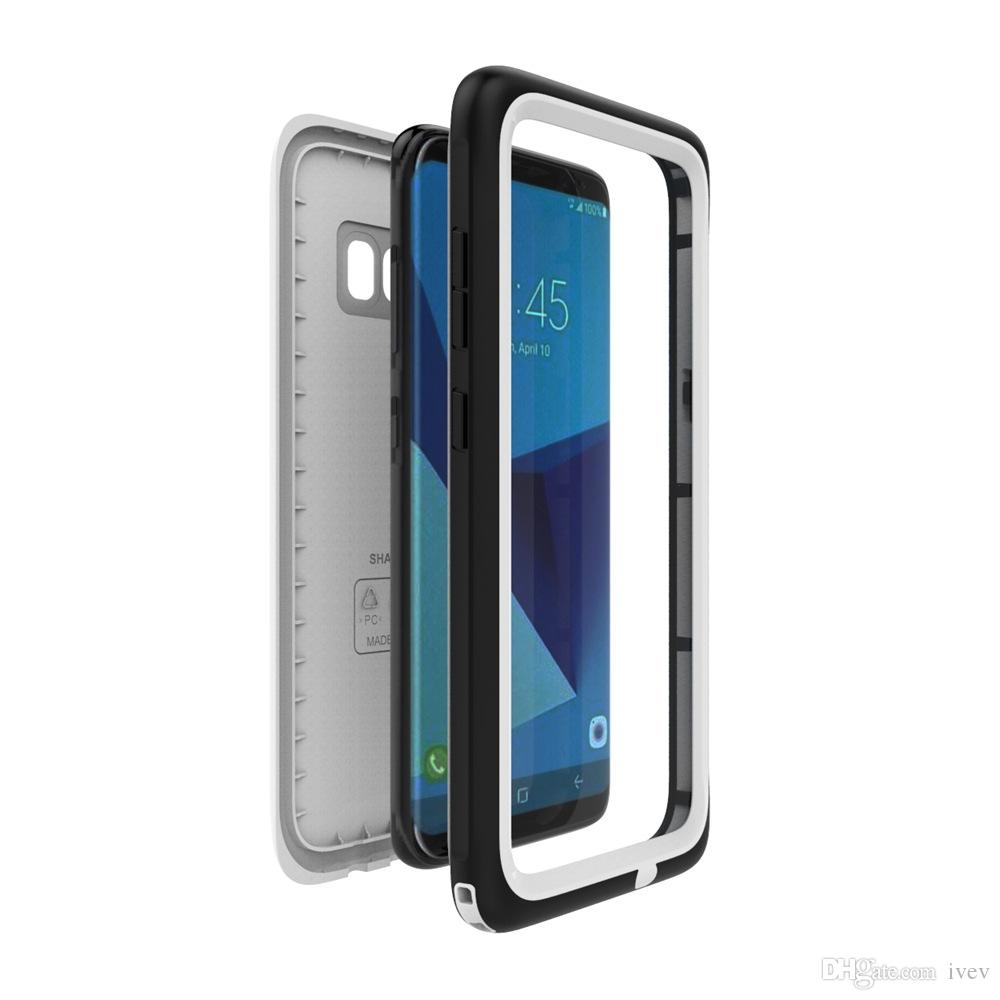 2017 NEW Arrival Waterproof Mobile phone Case ultra-thin Snowproof Shell with fingerprint for Samsung Galaxy S8 S8Plus with retail package